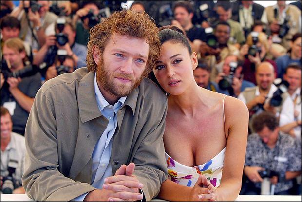 Венсан Кассель и Моника Беллуччи на 55-ом Каннском кинофестивале, 2002 год