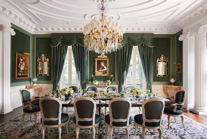 Интерьер столовой в доме под Новым Орлеаном
