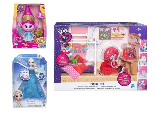 Кукла «Поющая Розочка», Игровой набор мини-кукол «Пижамная вечеринка», Кукла «Поющая Эльза»