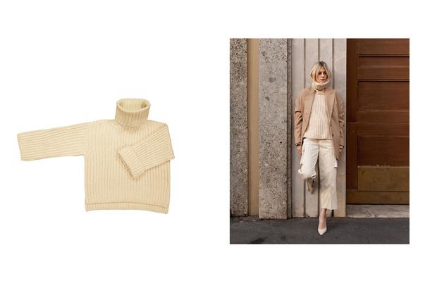 Самые сливки: кремовые свитеры для уютной зимы (фото 2)
