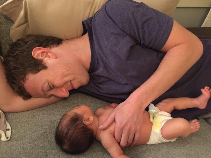 Марк Цукерберг с дочерью