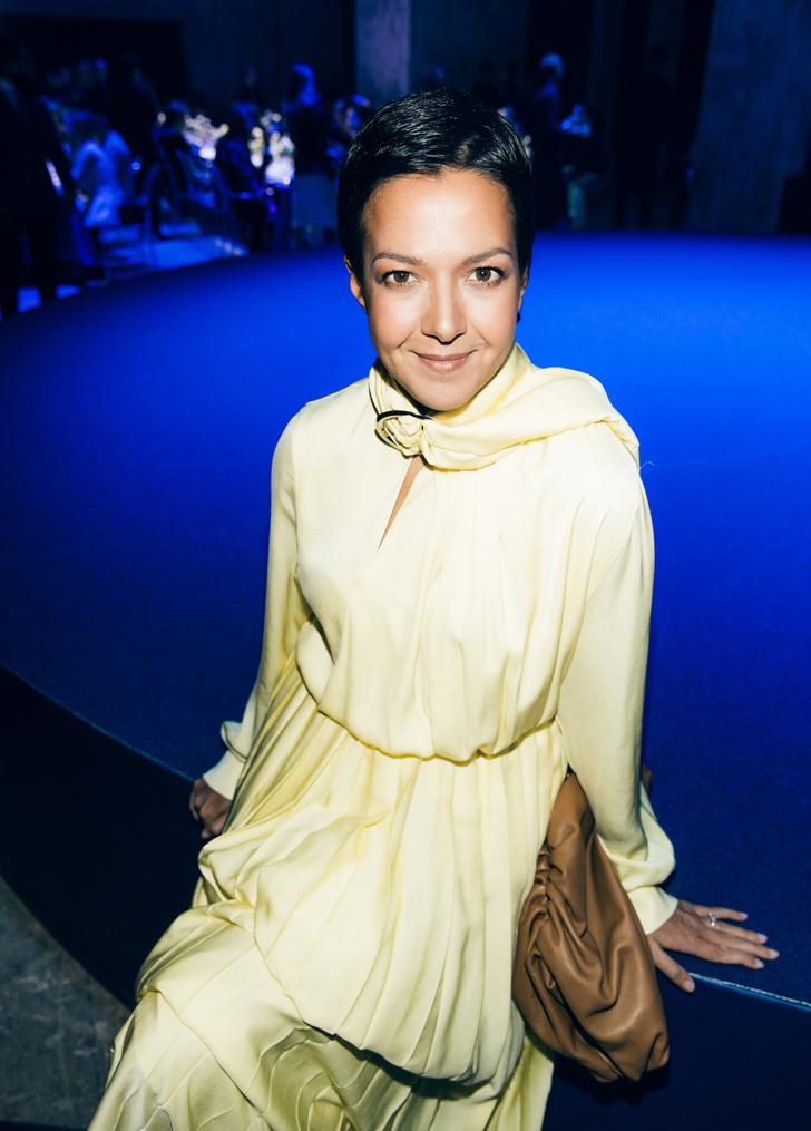 Ксения Чилингарова в платье Matériel Tbilisi на вечеринке Breitling (фото 2)