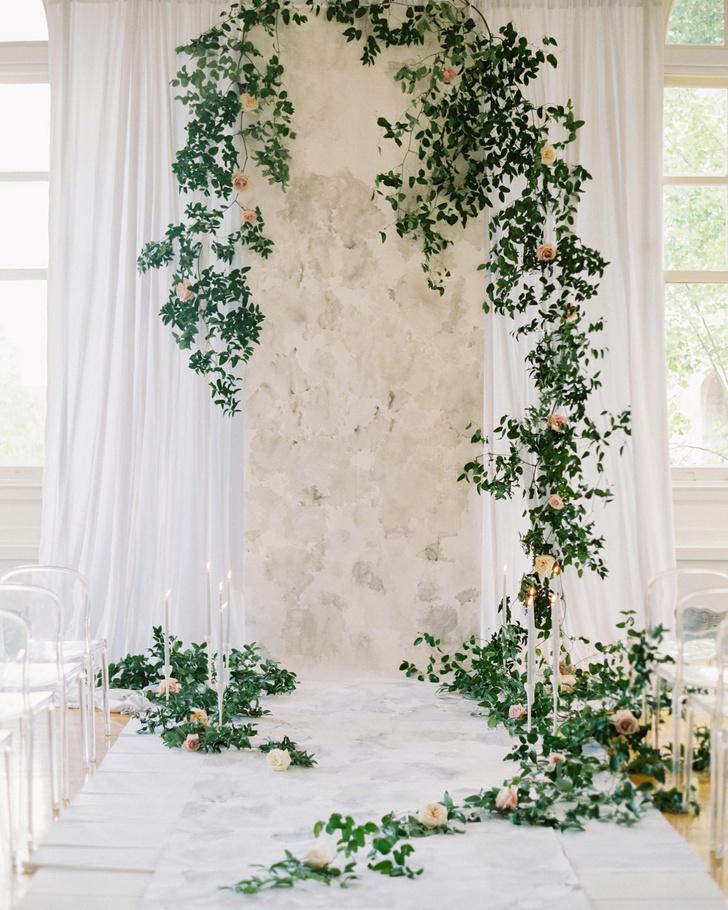 Зелень в декоре свадьбы: 7 вдохновляющих идей (фото 10)