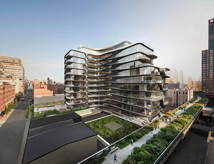 Первое жилое здание Захи Хадид в Нью-Йорке готово к заселению | галерея [1] фото [2]