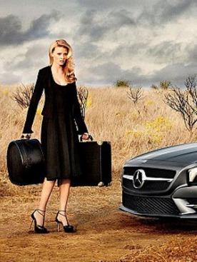 Лара Стоун в рекламе Mercedes Benz