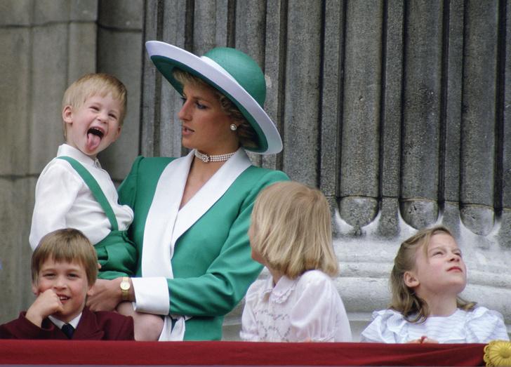 Принц Гарри и принцесса Диана фото