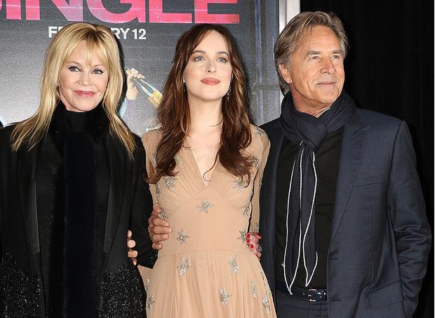 Мелани Гриффит и Дон Джонсон с дочерью Дакотой