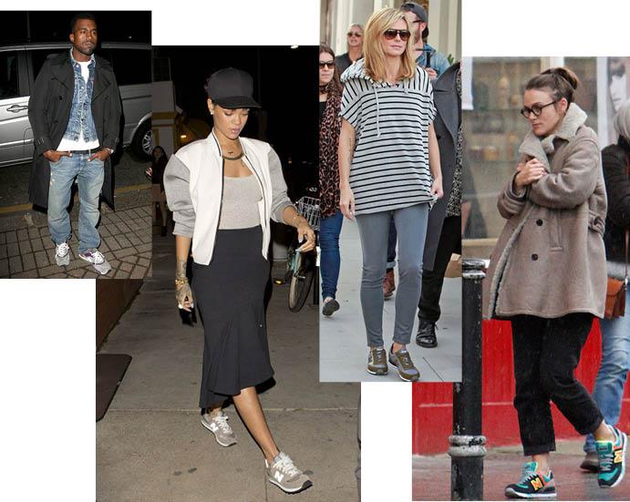 Знаменитости в кроссовках New Balance