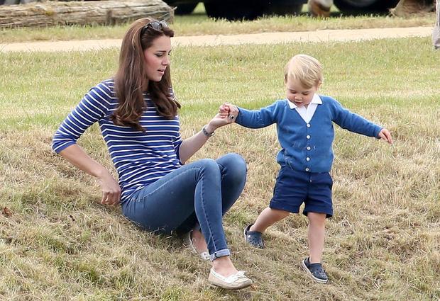 Кейт Миддлтон и принц Георг