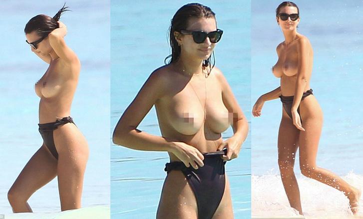 Эмили Ратаковски продолжает эпатировать публику «голыми» снимками
