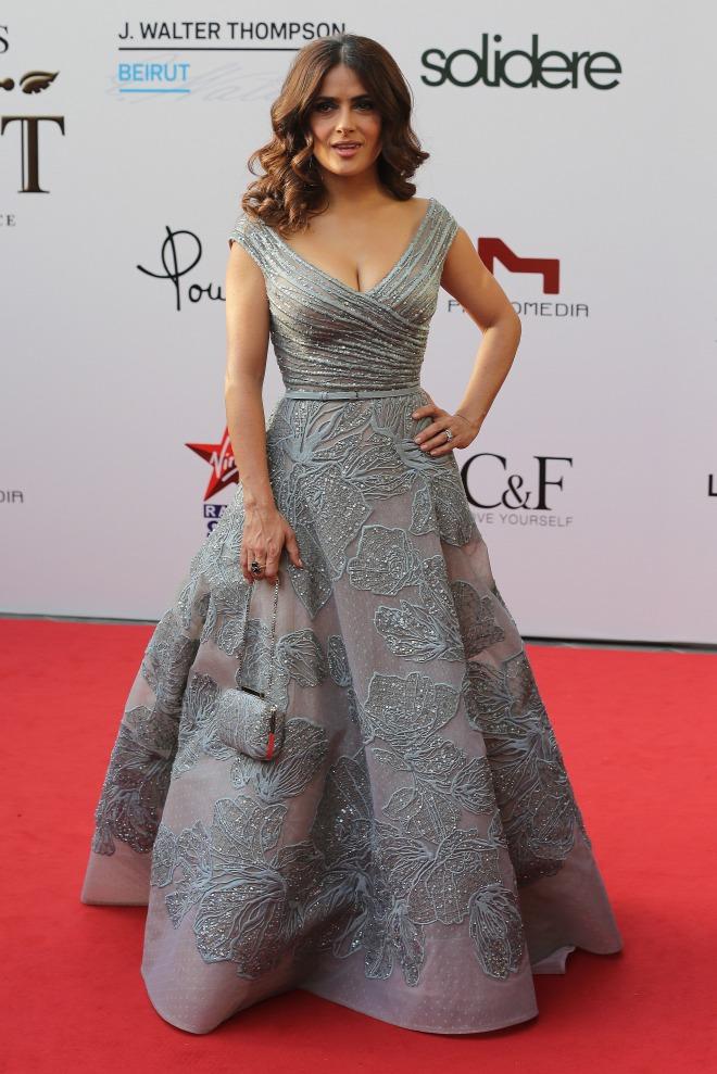 Сальма Хайек в Elie Saab Couture