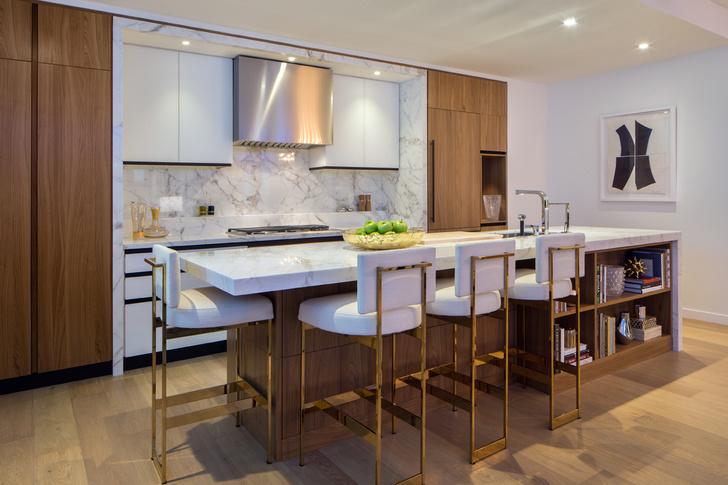 Эксклюзивные кухни Scavolini и Джеффри Бирса, разработанные для апартаментов One West End на Манхэттене.
