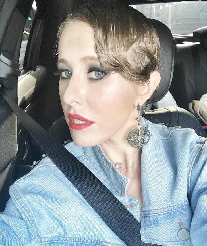 Ксения Собчак по дороге на свадьбу