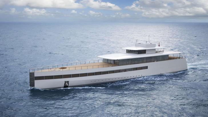 Яхта Venus Стива Джобса, дизайн Филиппа Старка