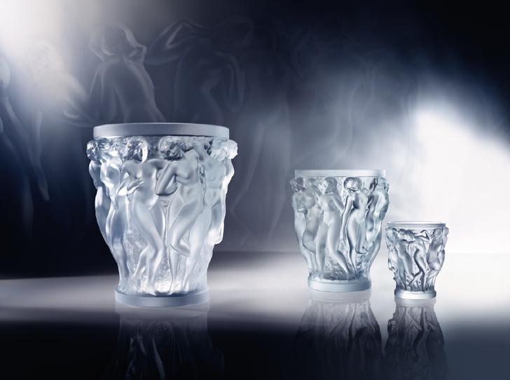 """Вазы """"Вакханки"""", Lalique, дизайн создан на основе архивных эскизов Рене Лалика"""