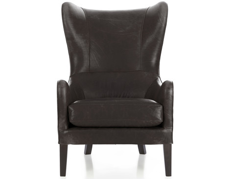 Кожаное кресло Garbo, магазин Crate and Barrel