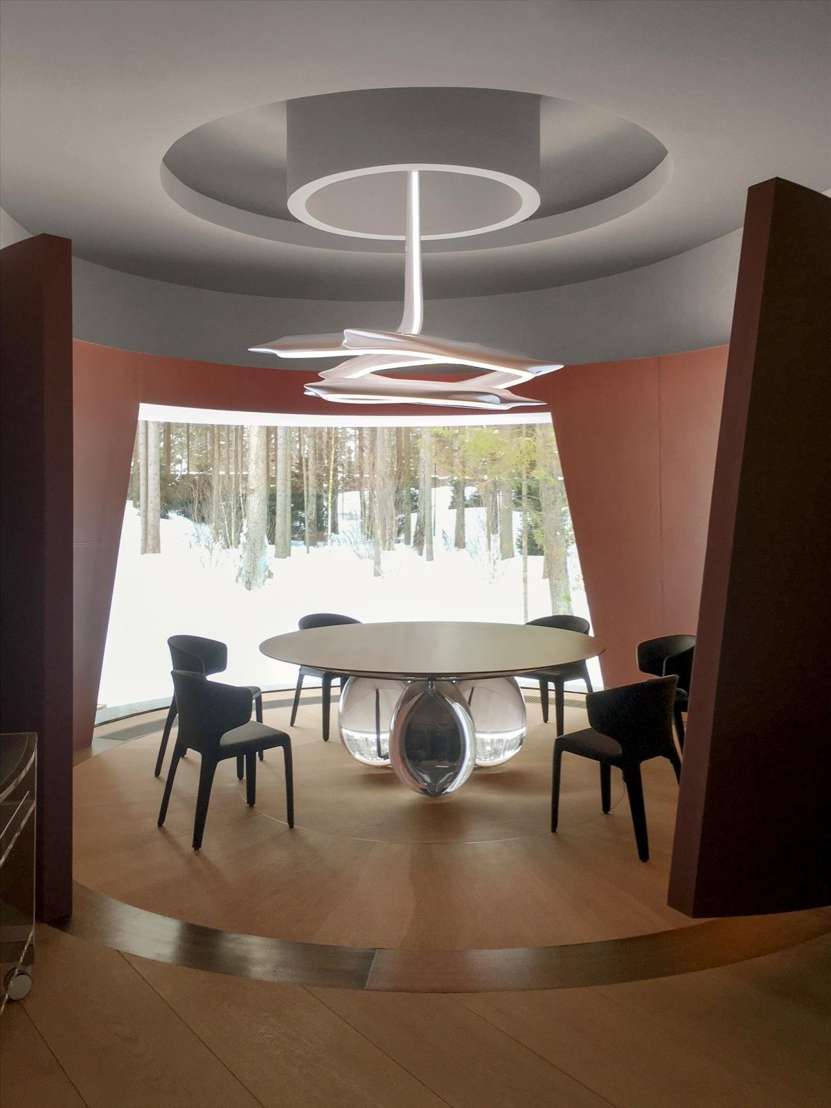 Круглый обеденный стол: 40 полезных примеров (галерея 1, фото 3)