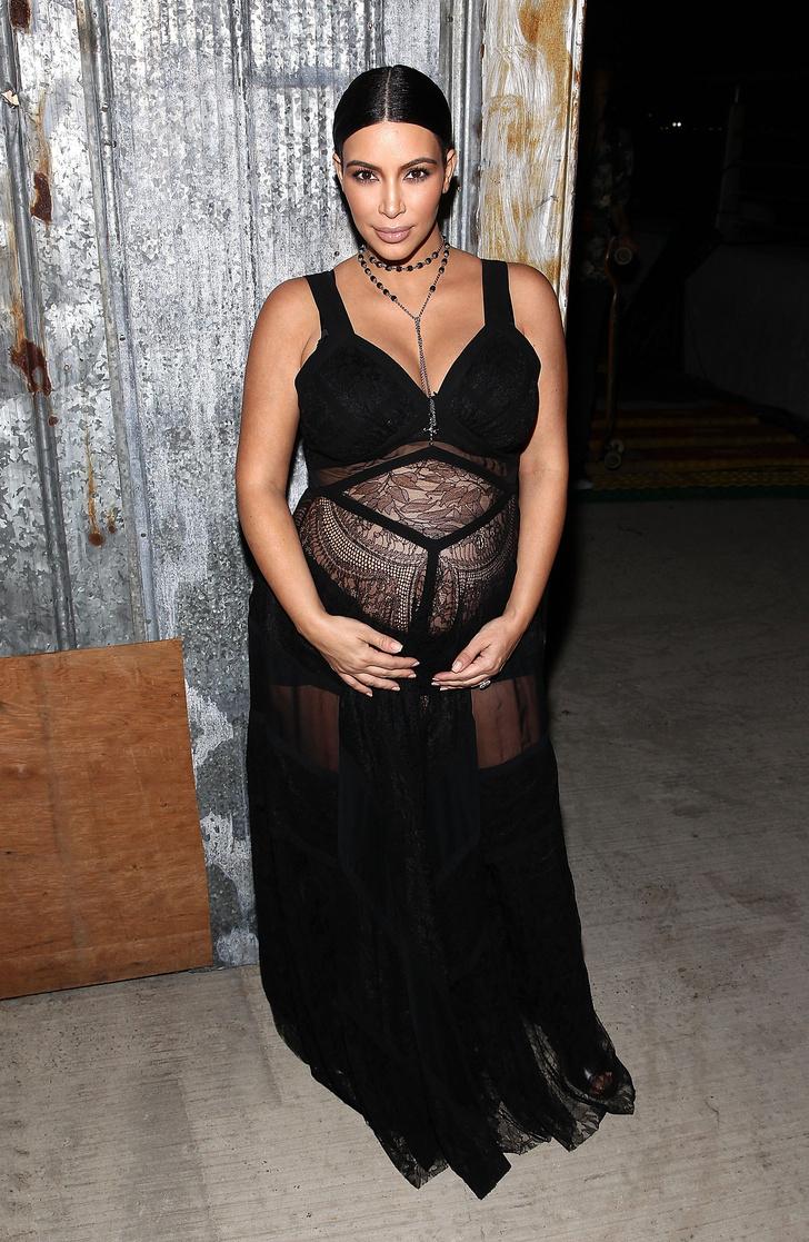Ким Кардашьян в Givenchy на показе Givenchy в Нью-Йорке