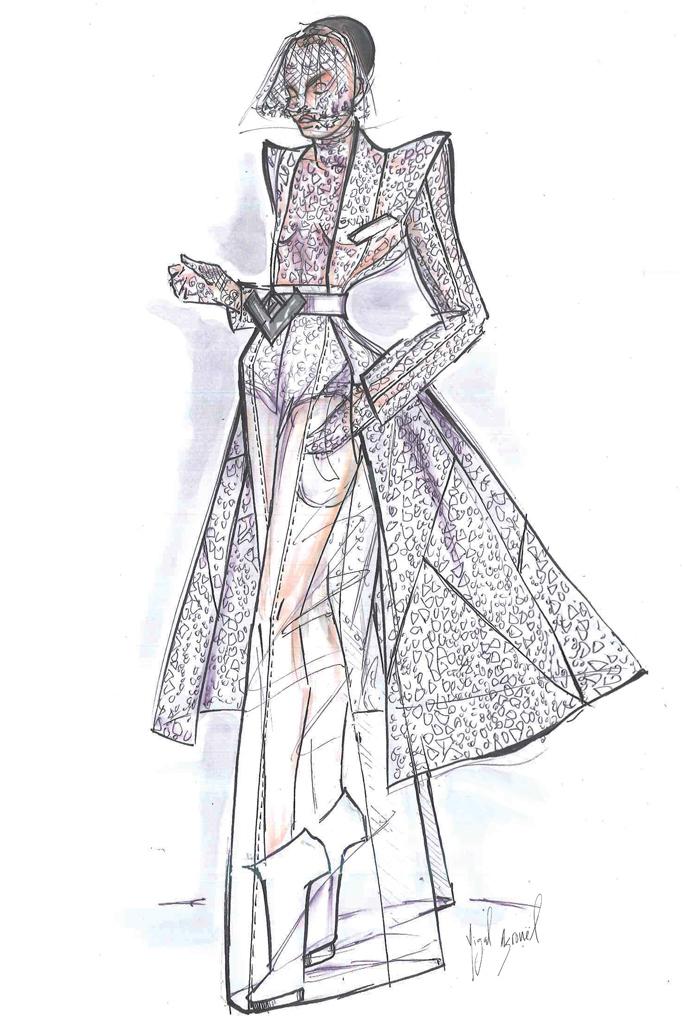 Свадебное платье Леди Гага от Yigal Azrouel