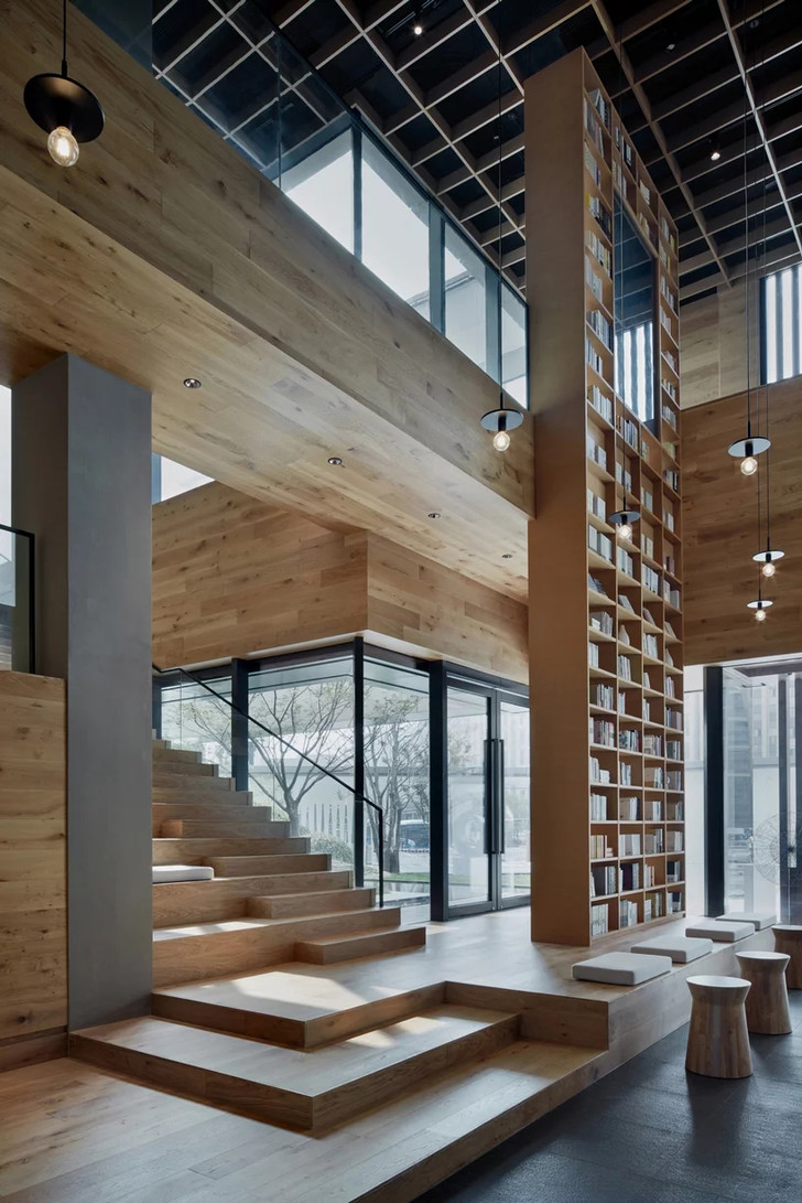 Деревянная библиотека в Ханчжоу (фото 0)