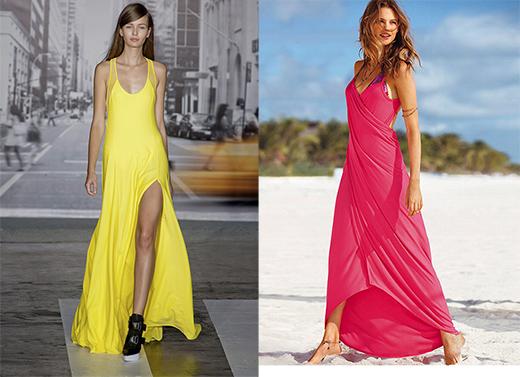Длинные платья пляжные фото