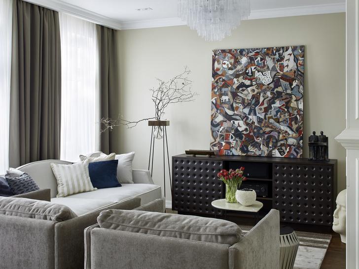 Американская классика: квартира в Москве 115 м² (фото 3)