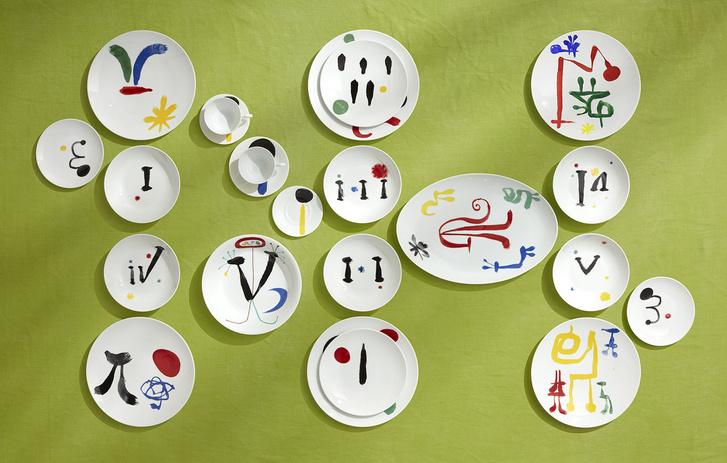 Коллекция посуды Bernardaud с рисунками Жоана Миро (фото 8)