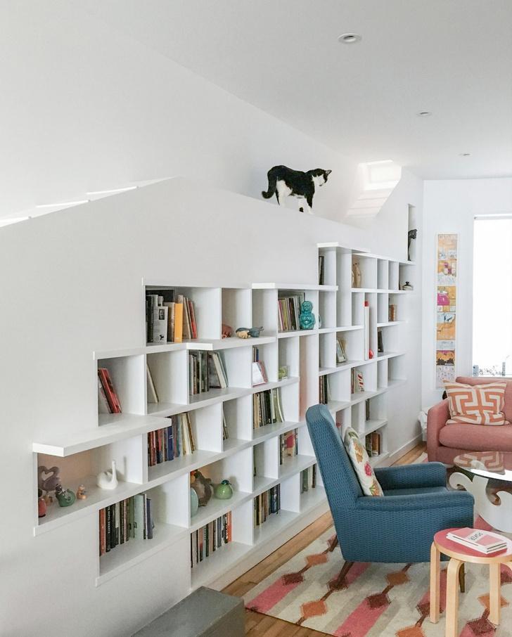 «Дом для любителей кошек и книг» в Бруклине (фото 4)
