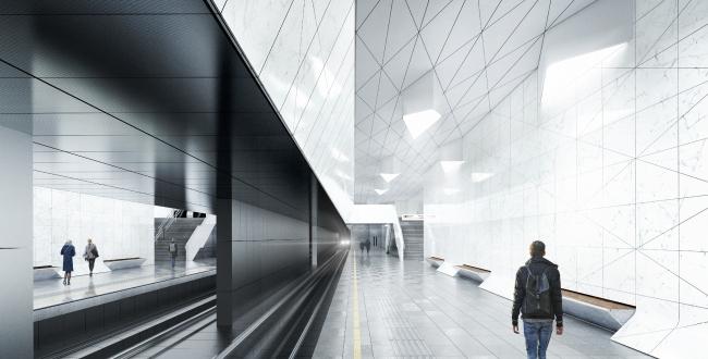 Концепция мастерской za bor для станции «Нагатинский затон» победила в конкурсе (фото 14)
