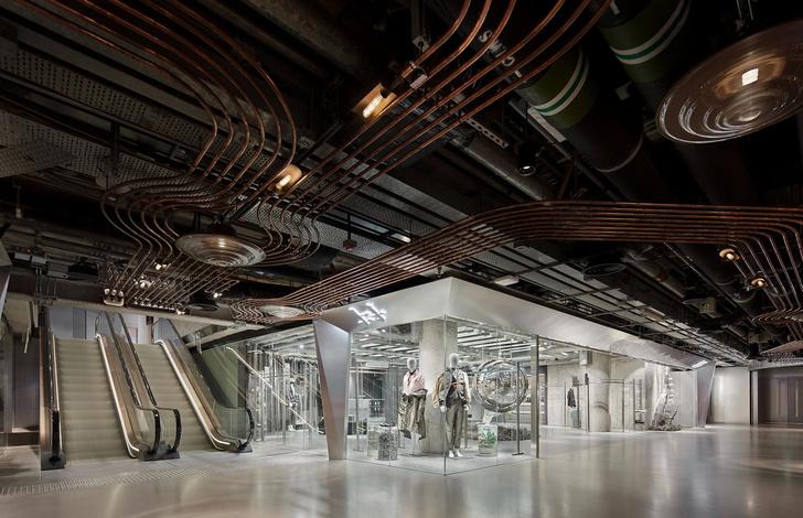 Футуристичный бутик в Гонконге из неперерабатываемых материалов (фото 2)