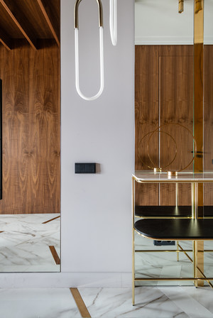 Квартира 80 м² в оттенках натурального дерева и латуни (фото 1)