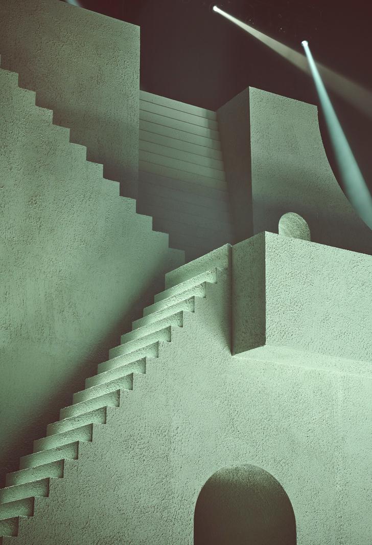 Архитектурные декорации к показу нижнего белья от Рианны (фото 7)