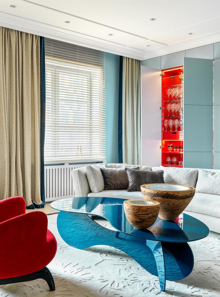 Песок и море: интерьер квартиры 200 м² в Москве (фото 3)