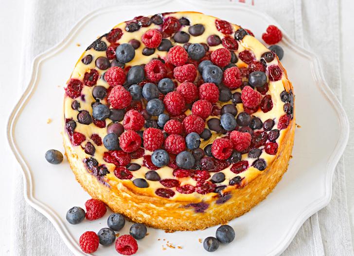 Ягодный торт со сливками