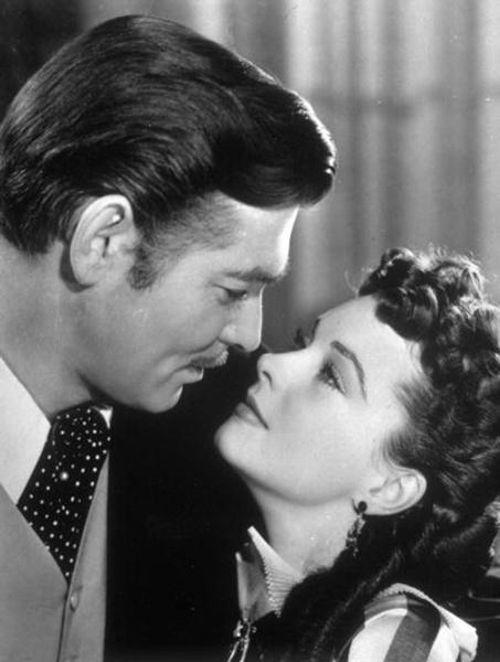 1.«Унесенные ветром»: Скарлетт О'Хара и Рэтт Батлер, 1939 год