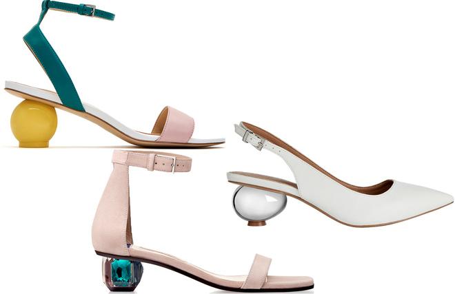 На подъеме: каблуки неожиданных форм и контрастных оттенков (фото 4)