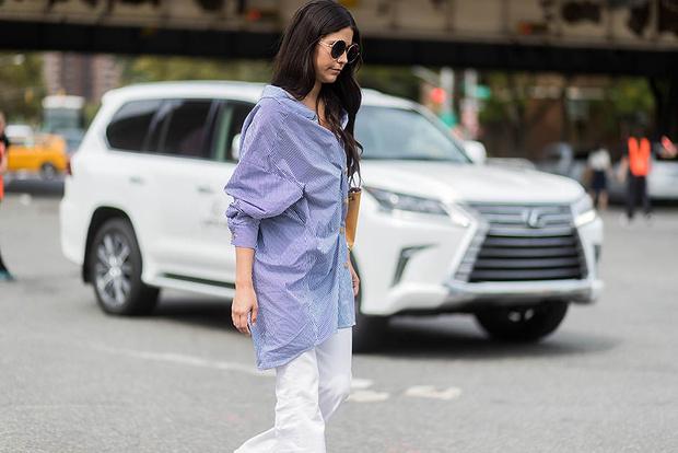 С чем носить женские рубашки (фото 9)