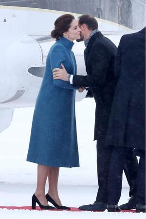 Леди в голубом: два новых образа Кейт Миддлтон в Норвегии (фото 1)