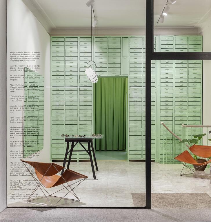 Мятно-зеленая оптика в Берлине по проекту Oskar Kohnen Studio (фото 0)