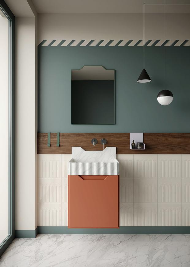 Ванная комната в стиле Роя Лихтенштейна от Ex.t (фото 1)