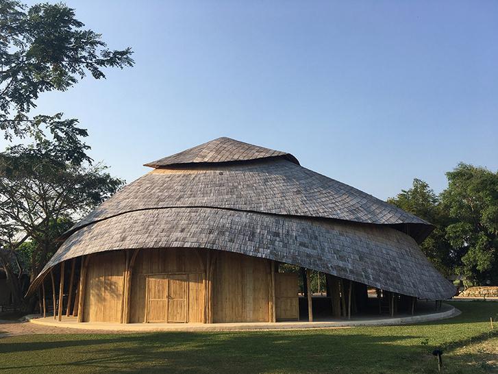 Bamboo sports hall