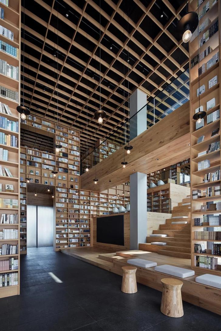 Деревянная библиотека в Ханчжоу (фото 20)