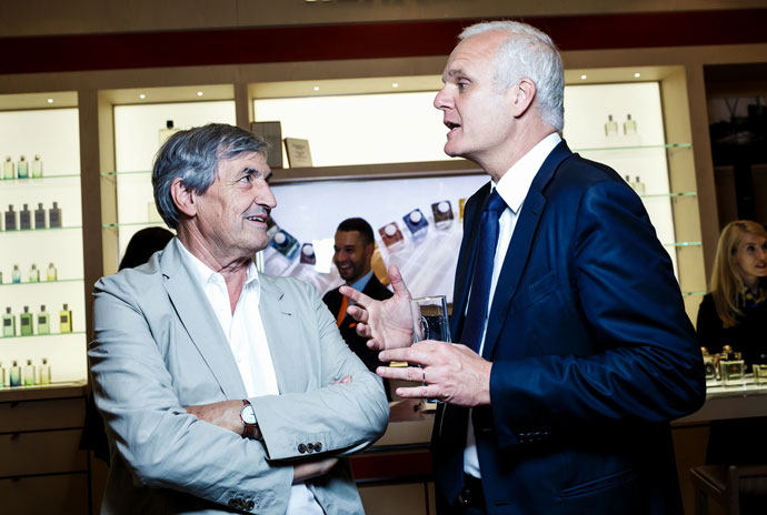 Жан-Клод Эллена и коммерческий директор Hermès Кристоф Бомбана