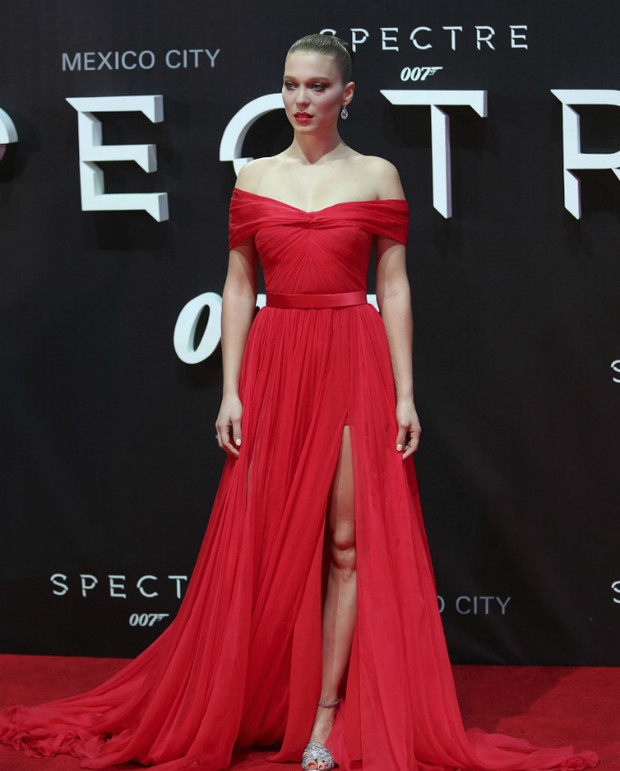 Леа Сейду в Miu Miu на премьере «007: СПЕКТР»