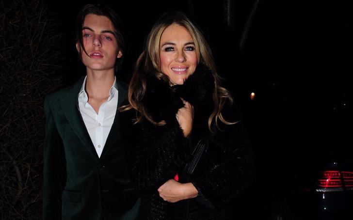 Высокие отношения: Элизабет Херли с сыном и экс-мужем на ужине в Лондоне (фото 4)