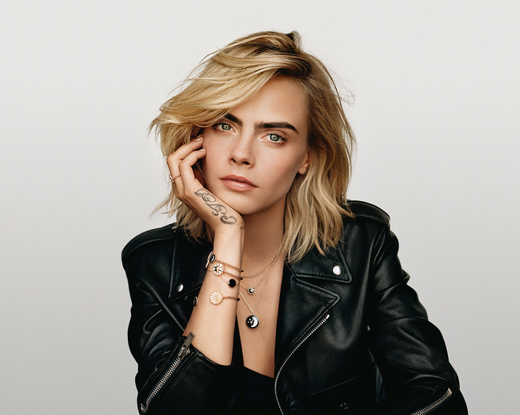 Кара Делевинь в новой коллекции Dior Rose Céleste (фото 1)