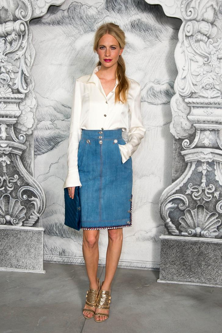 С чем носить джинсовую юбку 2015