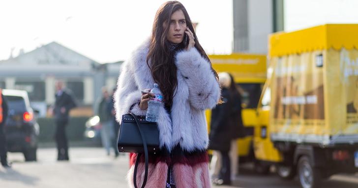 Streetstyle на Миланской неделе моды