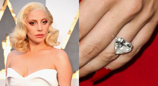 Помолвочное кольцо Леди Гага с бриллиантом в 8 карат, примерная стоимость 500 тысяч долларов