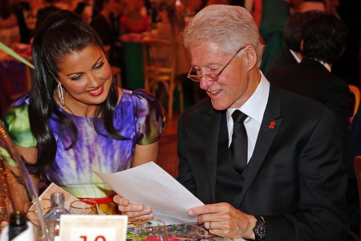 Анна Нетребко и Билл Клинтон